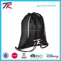 Lightweight and Durable Nylon Back Pack Drawstring Gym Bag for Unisex