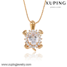 32738- Xuping Fashion jewelry, Crystal Tortoise Necklace Pendant