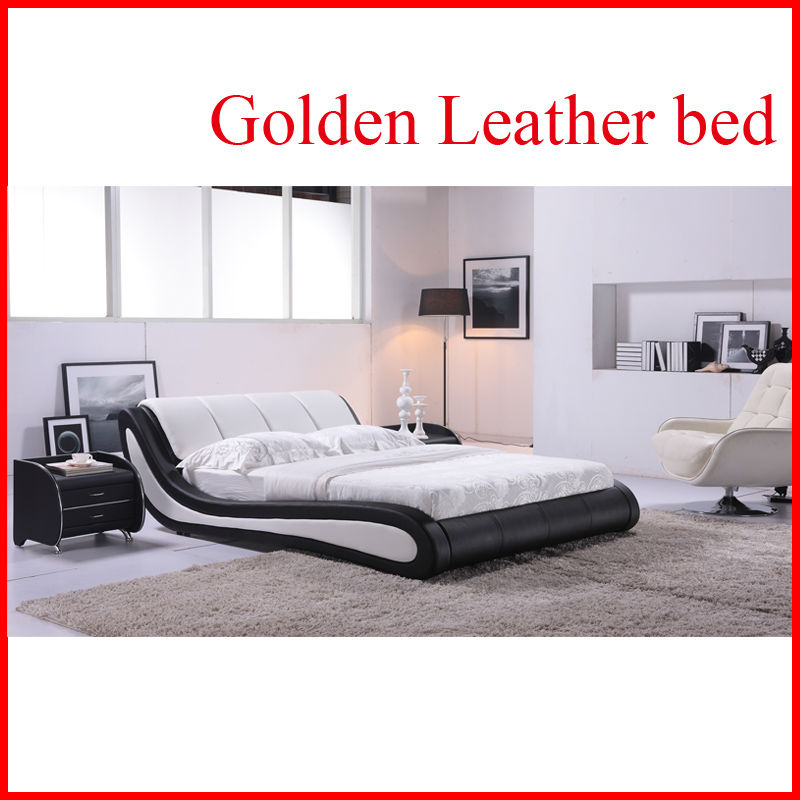 Golden pakistani furniture adult sized car bed G888