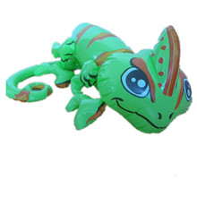 cheap pvc inflatable animals toy in chameleon shape for kids