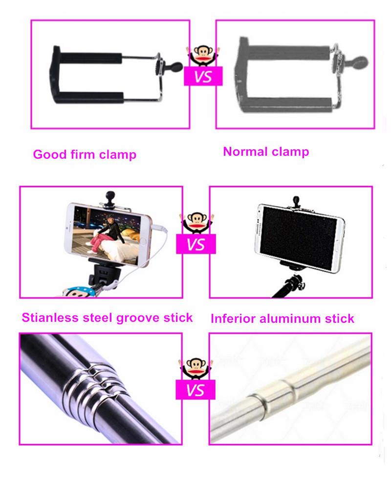 high quality custom logo selfie stick extendable handheld monopod buy high quality selfie. Black Bedroom Furniture Sets. Home Design Ideas