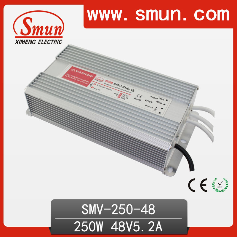 250W 48VDC Waterproof AC/DC Switching Power Supply