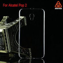 For Alcatel Pop 2 PC clear case transparent case, wholesale 2014 NEW mobile phone case cover for For Alcatel Pixi 3