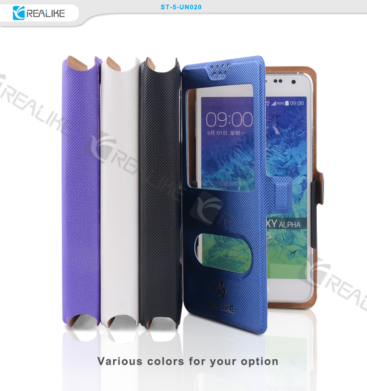 slide universal flip leather phone case cover for 4.7 inch cell phone
