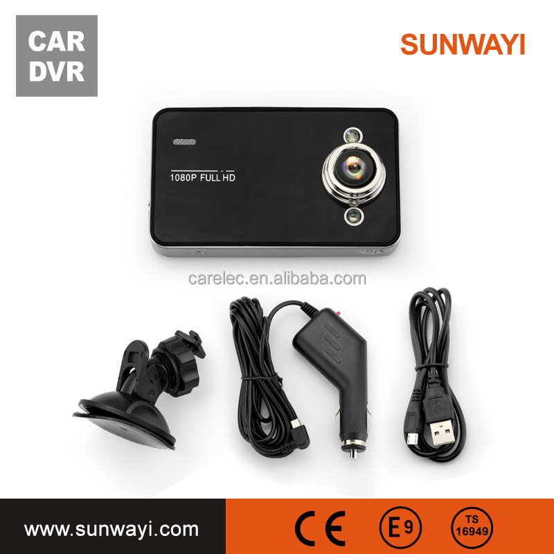 LED night vision 2.4'' car dash cam with 2 camears 1080p for front camera,back is 720camera