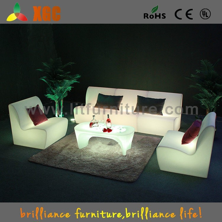 2016 best selling plastic led outdoor kuka sectional leather <strong>sofa</strong>