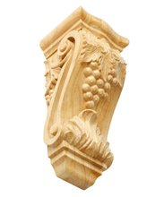 solid wood verona corbel with grapes for home decoration(EFS-CA-05)