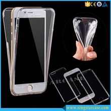 360 Degree Shockproof Hybrid Full Cover Clear TPU Protective Case For Samsung Galaxy S Duos 7560 7562