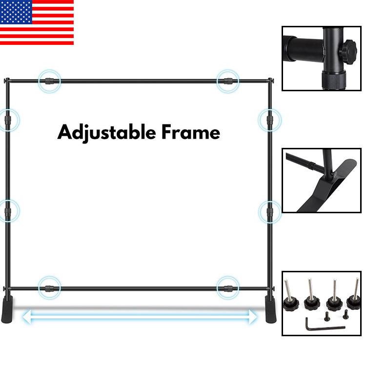 10ft Straight Advertising Event Wall Display Pop Up Backdrop Stand