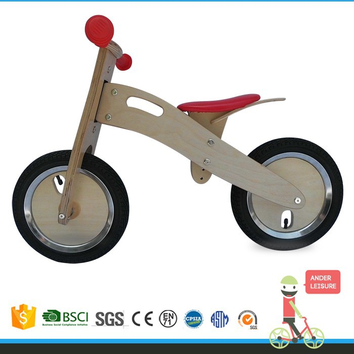 2015 popular wooden runnning bike /children running bike/best wooden bicycle