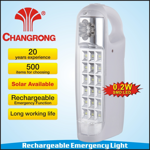 Changrong portable solar lamp with factory price