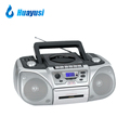 Super Bass Portable AM FM Radio Cassette Tape and CD DVD Player with Recording