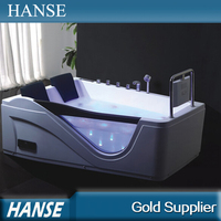 HS-B293 double apron corner bathtub with glass compact bathtub