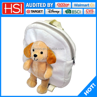 2016 new products cute plush animal school backpack for kids