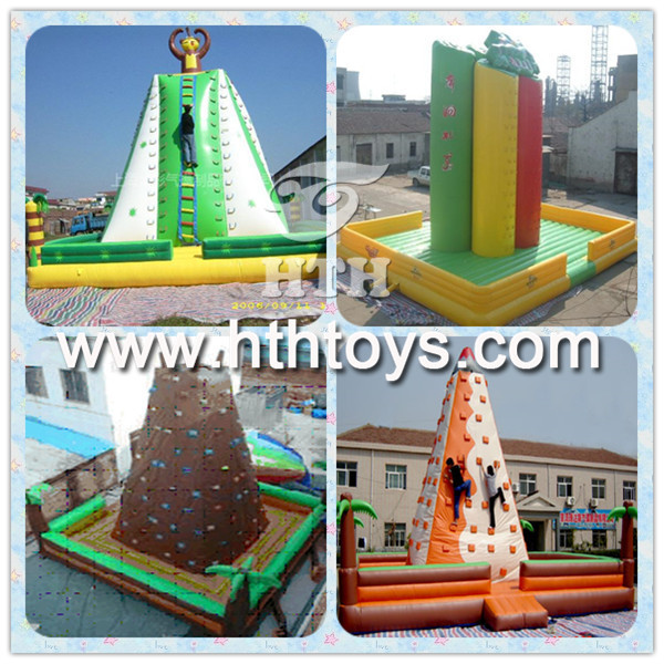 attractive artificial rock climbing wall