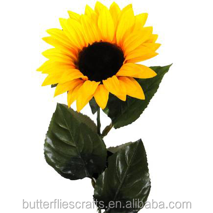 Realistic artificial sun flower for wedding bouquet
