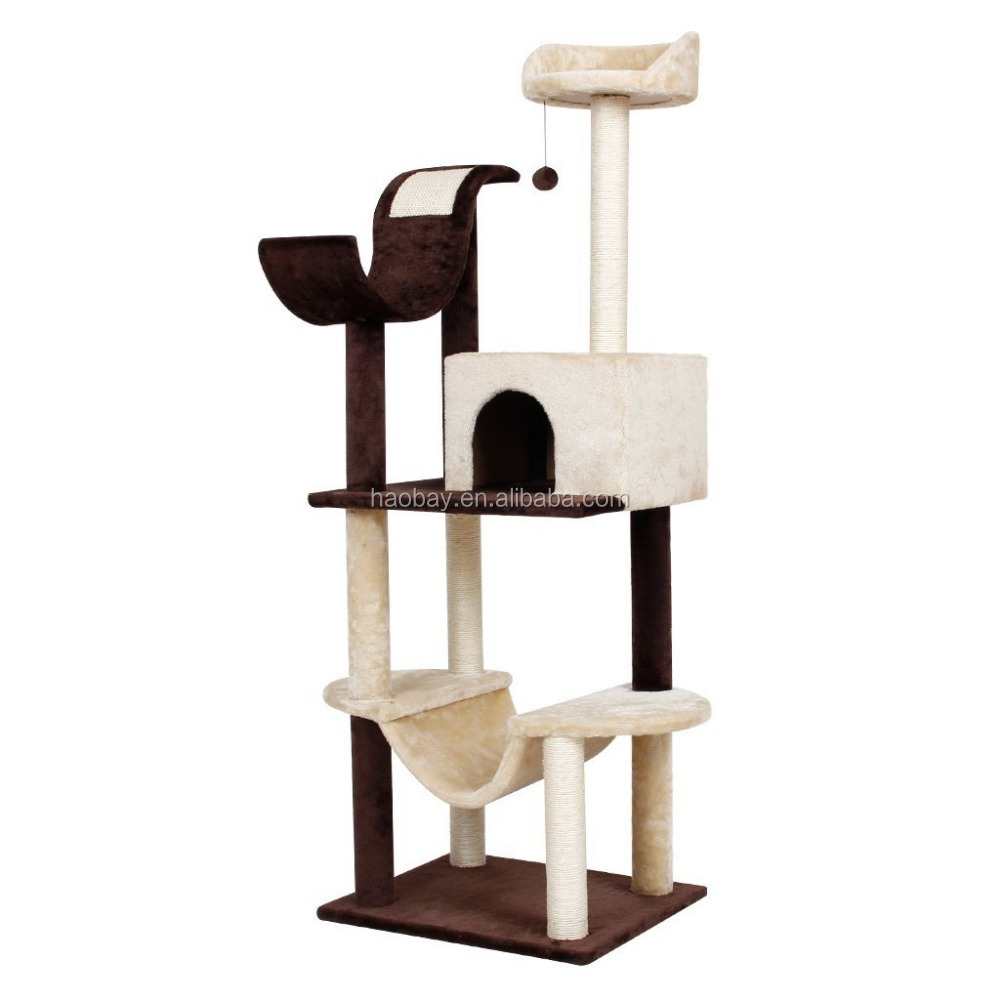Super Stable Cat Tree Scratch Furniture With High Quality Plush and Board