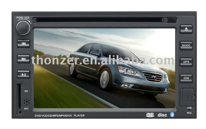 Special Car DVD for Hyundai Sonata/Elantra/Santafe /Tucson (Digital screen) (TZ-HY6201)