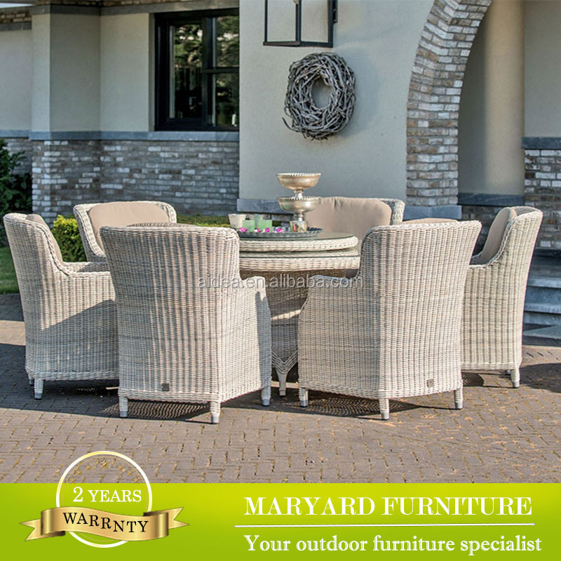 poly rattan furniture dining table set