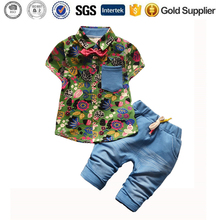 summer boys clothing sets 2pcs camouflage baby clothes