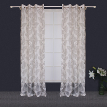 Customized African Design Curtains Insulated Polyester Burnout Window Curtain