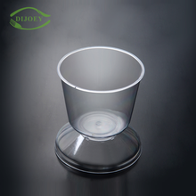 Hot sale 5oz clear transparent disposable ps plastic dessert cup with lid