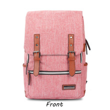 New korea style school bag multi-function for both men's and women's canvas backpack leisure hiking travel bag