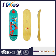 promotional blank bamboo canadian maple skateboard deck