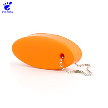 Colorful durable custom EVA foam floating keychain