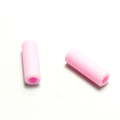 High quality factory direct TPU injection pink rubber drawcord ends