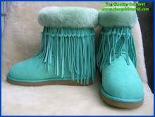 2014 new style sheepskin short snow boot