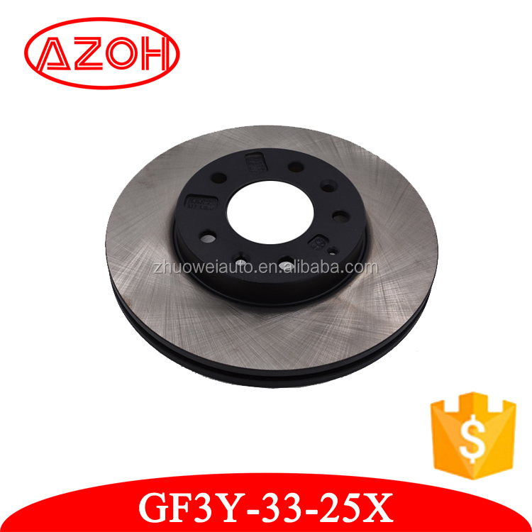 Good performance front wheel brake disc GF3Y-33-25X for Mazda M6/FAMILIA/626