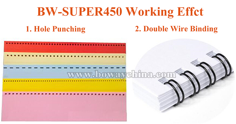 Interchangeable Dies punching double wire binding machine