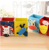 Fancy pen holder for kid desktop organizer wooden pen holder cute cartoo pen holder