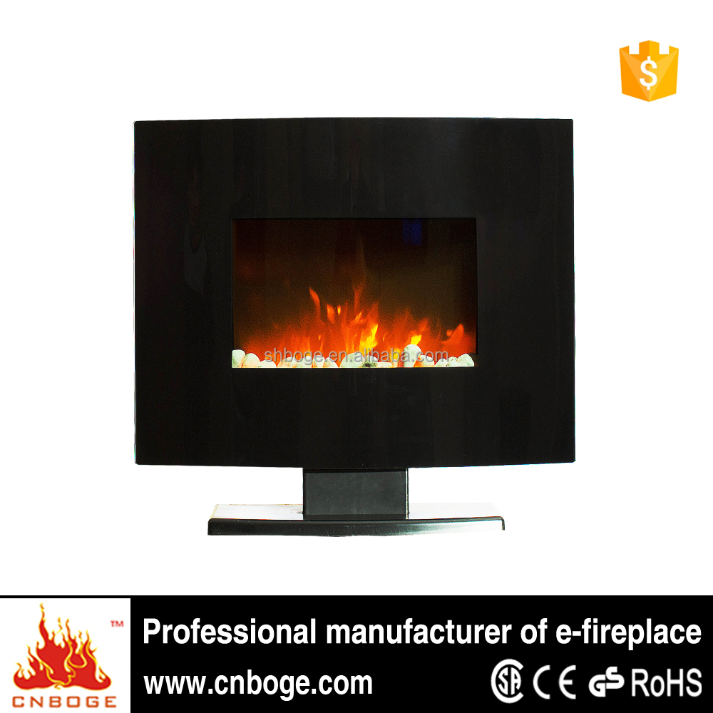 24 curved eco flame electric wall mount fireplace heater for 24 wall mount electric fireplace