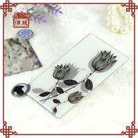 Christmas advertising cheap small customizable vanity hand mirror cosmetic mirror DBS120