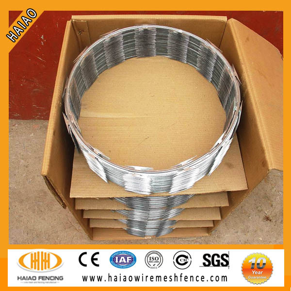 Wholesale high quality hot dipped galvanized steel spike/ razor barbed wire
