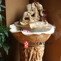 2016 Wholesale Cheap Resin Outdoor Elephant Water Fountain