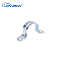 China manufacturing high quality two holes emt conduit pipe strap clamp