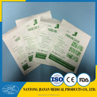 gauze fabric plus soft paraffin high quality paraffin pad with or without x-ray