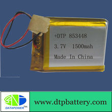 Li-Polymer 853448 3.7V 1500mAh With PCB Protection