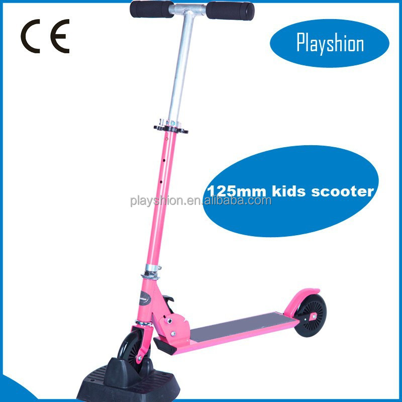 Foot pedal kids scooter, 125mm wheel kick scooter, cheap pocket bikes