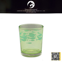 fish shape candle holder,glass candle holder for decoration