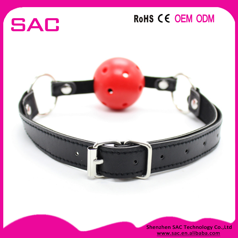 Wholesale Cheap Female Sex Toys Leather Bondage Fetish Open Ball Mouth Gag for <strong>Animals</strong>