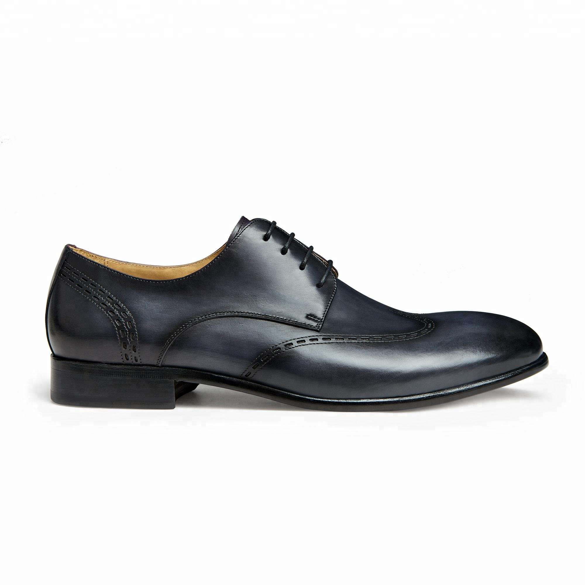 2018 hot selling navy blue men dress shoes