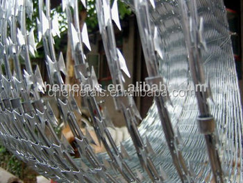 Galvanized Concertina Razor Wire Barbed/Razor Wire Mesh Fencing/Concertina Razor Wire