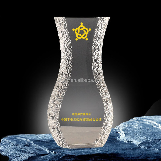 Beautiful vase shaped plaque crystal crafts