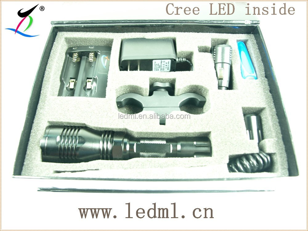 LED 350LM Tactical Mount Flashlight Torch Shotgun/Rifle Hunting Light
