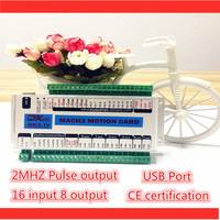 2MHZ 3 AXIS Mach3 USB CNC motion controller,16input 8output, 24V,CE