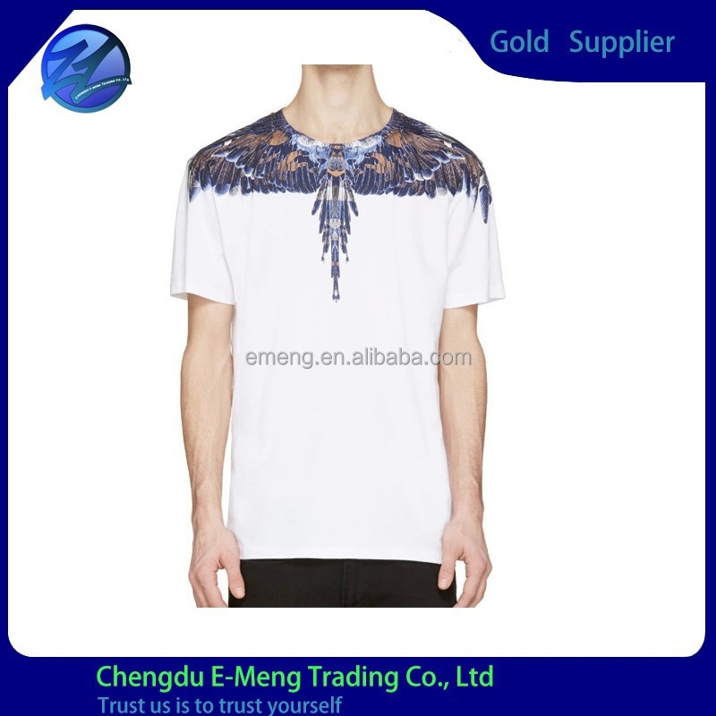 100% Cotton O-neck Wholesale Designed New Pattern T shirt Garment